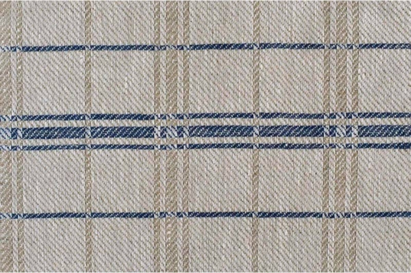 Natural with blue checked fabric 1