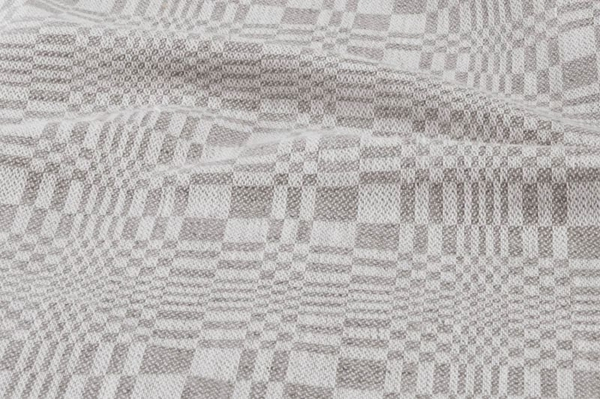 Grey patterned narrow linen / cotton fabric 2