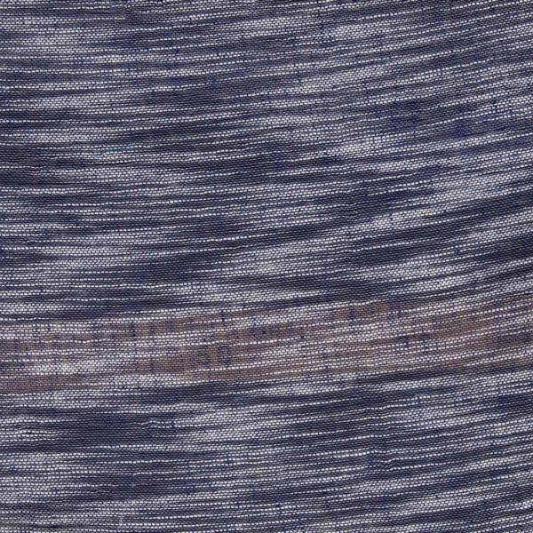 Linen cotton blue fabric with white stripes 2