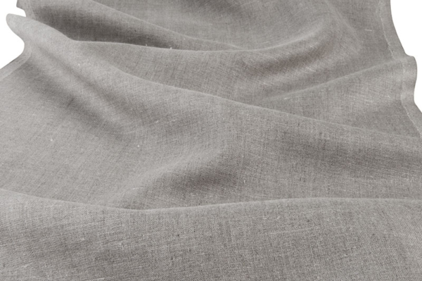 Grey pure linen fabric for towels 1
