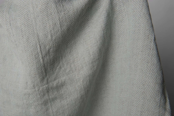 Washed greenish grey linen fabric 2