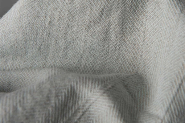 Washed greenish grey linen fabric 3