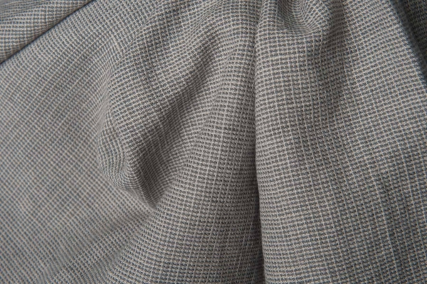 Grey patterned fabric, washed 1