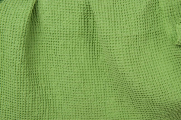 Light green, waffle, fabric, washed 1