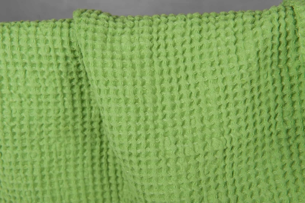 Light green, waffle, fabric, washed 2