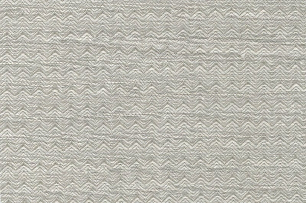 Grey linen cotton fabric in a wavy pattern 1