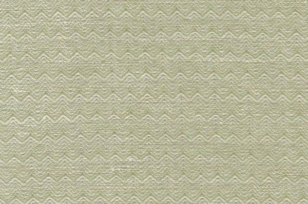 Light green linen cotton fabric in a zigzag pattern 1