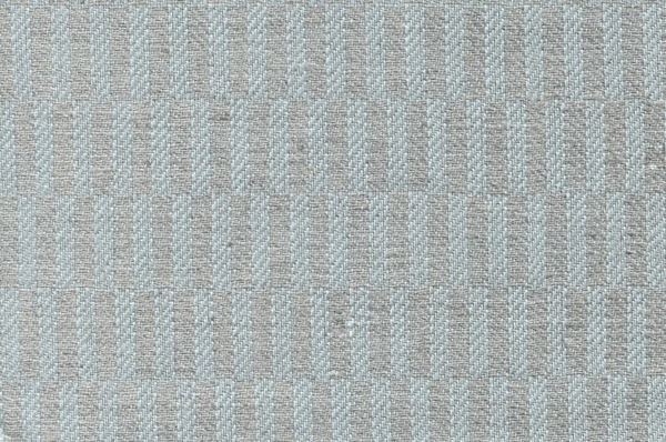 Blue and grey patterned linen cotton fabric 1
