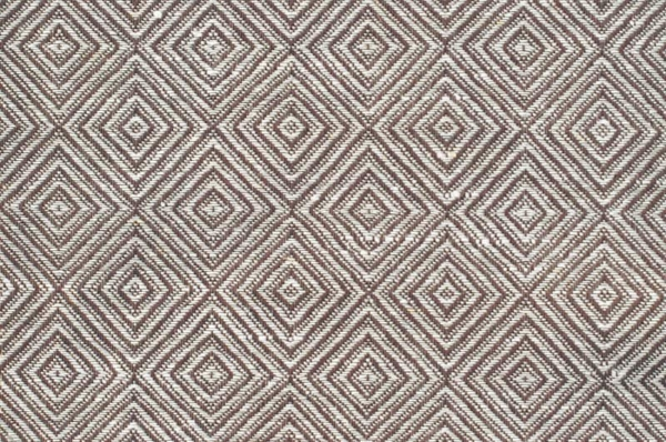 White and brown linen cotton fabric in a diamond pattern 1