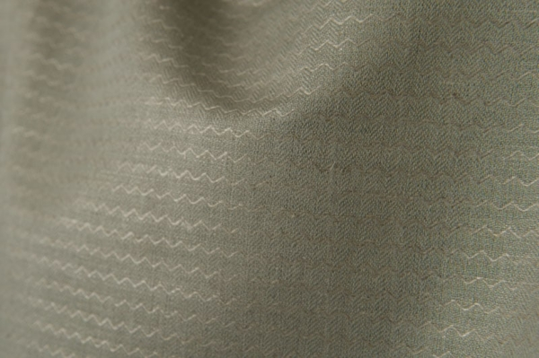 Grey linen / cotton fabric in a zigzag pattern 2