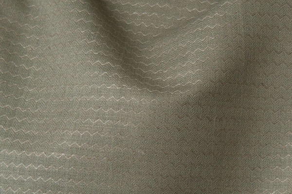 Grey linen / cotton fabric in a zigzag pattern 1