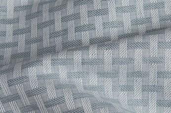 Linen blend grey patterned fabric 2