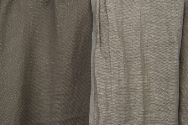 Grey double-sided linen / cotton fabric, washed 1