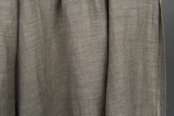 Grey double-sided linen / cotton fabric, washed 5