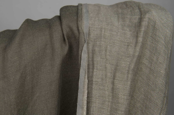 Grey double-sided linen / cotton fabric, washed 3