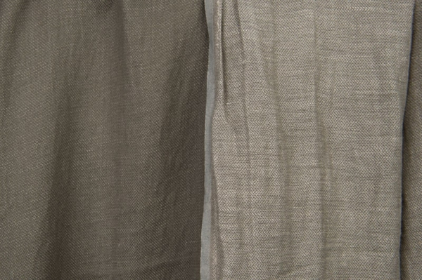 Grey double-sided linen / cotton fabric, washed 2