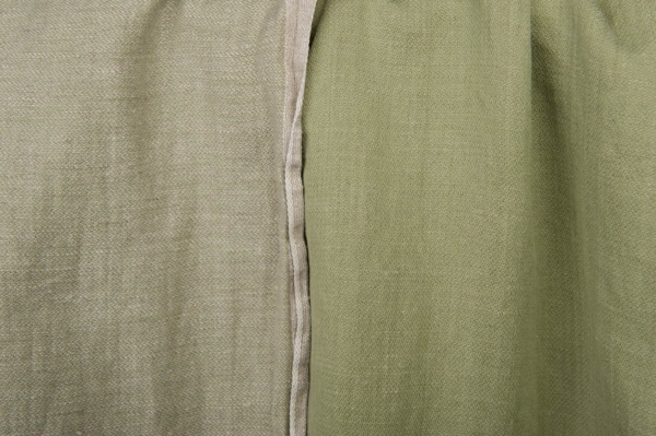 Olive green washed fabric, double-sided 1