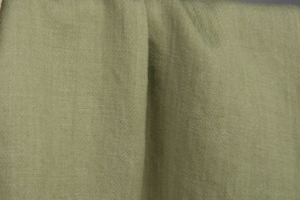 Olive green washed fabric, double-sided 2