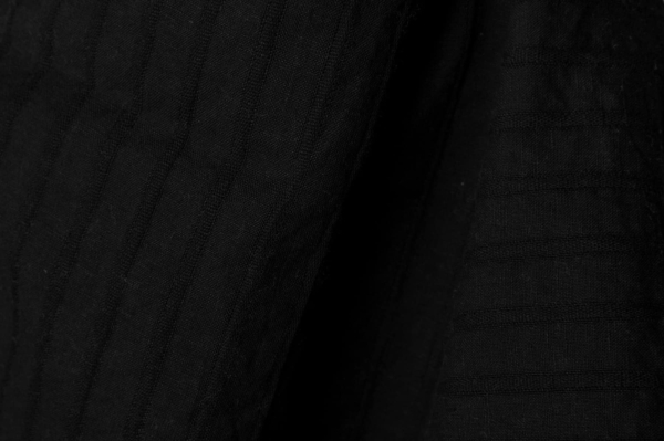 Black striped fabric, washed 1