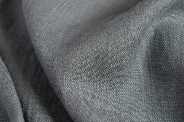 Linen blend grey double-sided fabric, washed 2