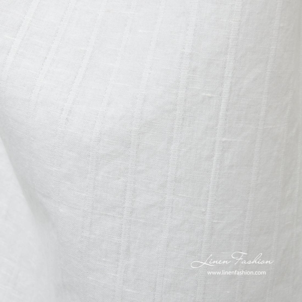 White washed linen cotton fabric 3