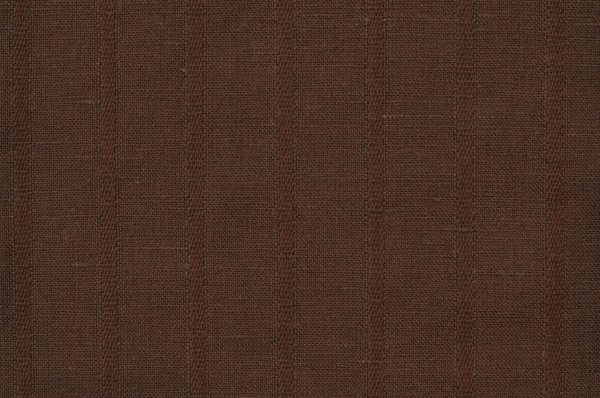 Brown striped linen cotton fabric 1