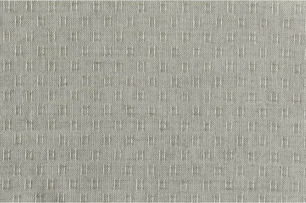 Grey linen cotton fabric in tiny squares 1