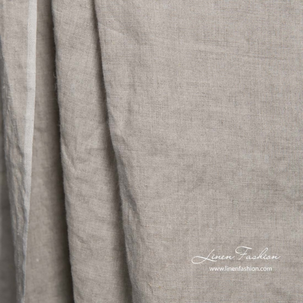 Washed natural flax linen fabric 1