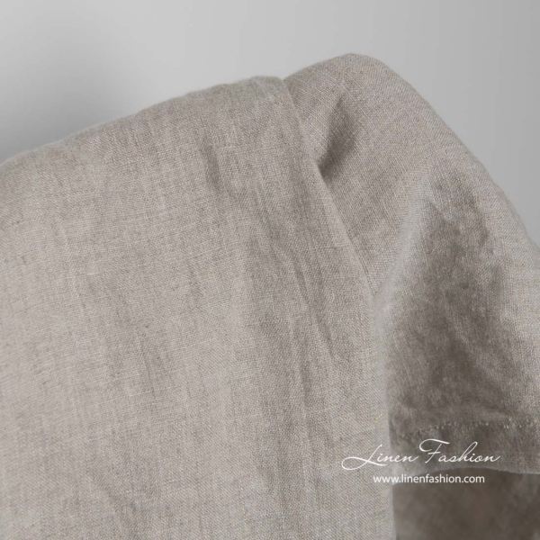 Washed natural flax linen fabric 2