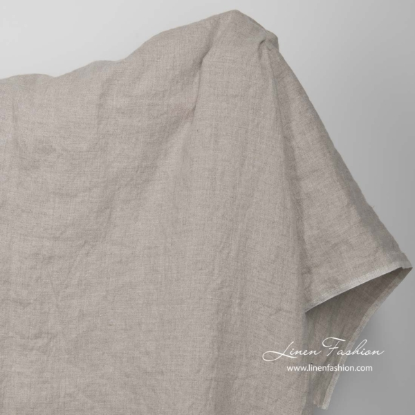 Washed natural flax linen fabric 3