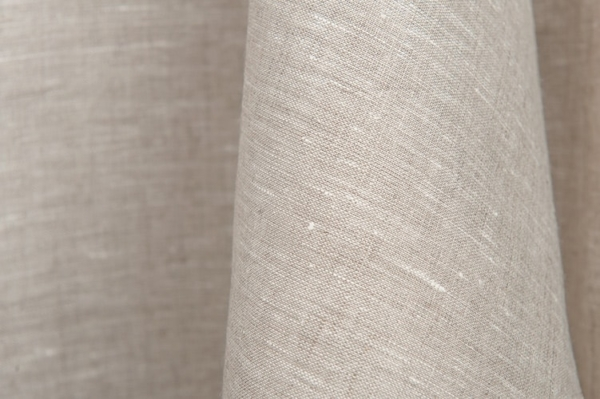 Pure linen fabric in light grey 1