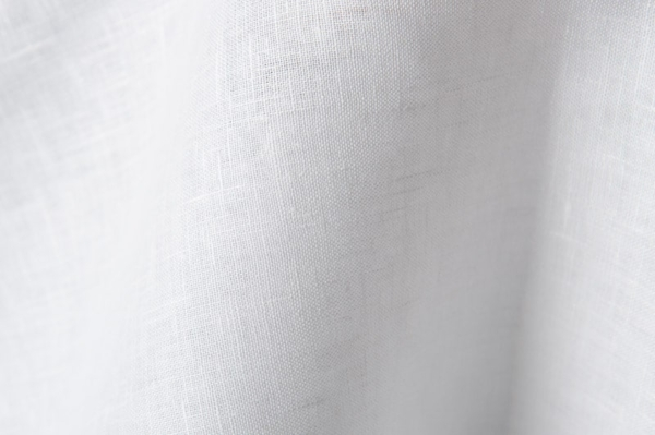 Pure linen fabric in optical white 1