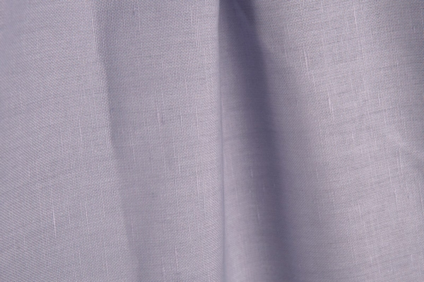 Lilac violet linen / cotton fabric 1