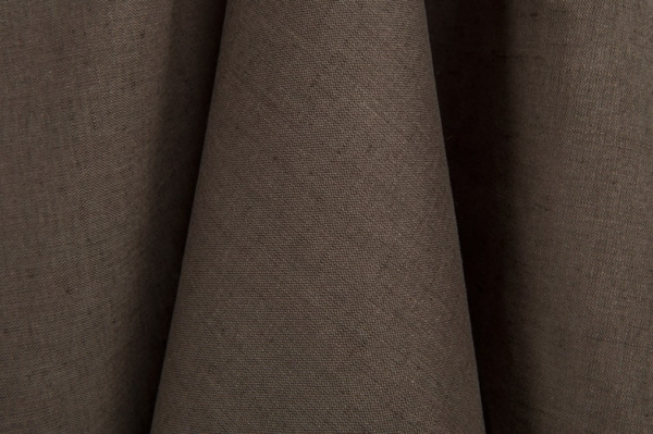 Linen / cotton fabric in greyish brown colour 1