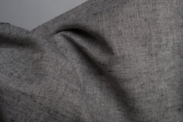 Linen cotton fabric in black and white 2