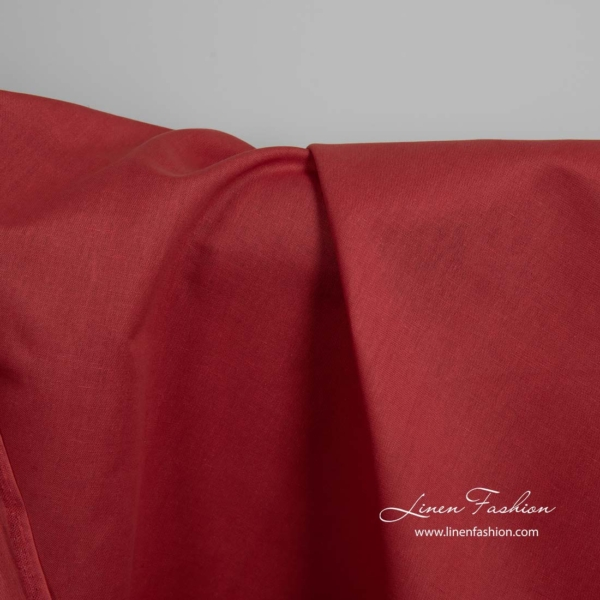 Red linen cotton fabric 1