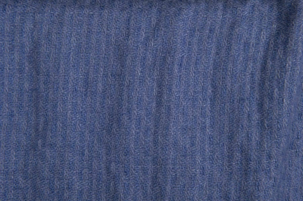 Blue striated washed linen fabric 1
