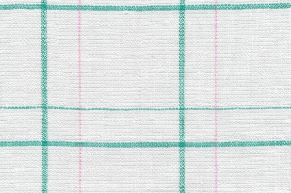 Plaid linen fabric in off-white 1