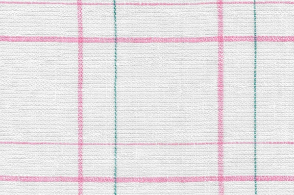 Plaid pure linen fabric in off-white 1