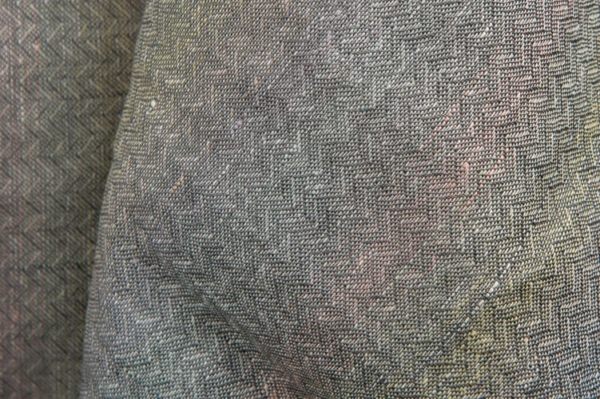 Grey colourful patterned pure linen fabric 2
