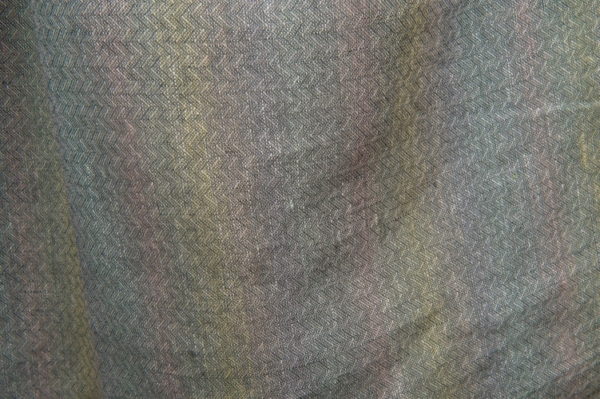 Grey colourful patterned pure linen fabric 3