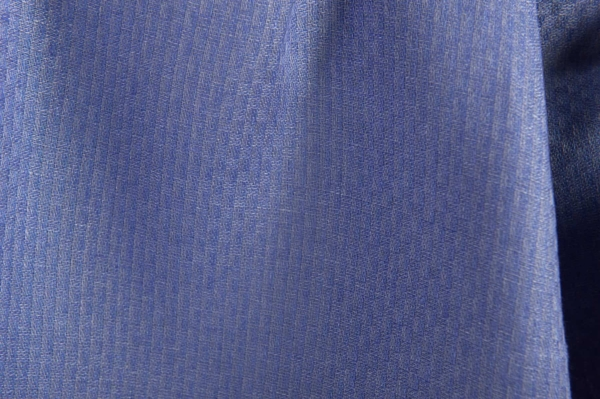 Blue patterned linen fabric 2
