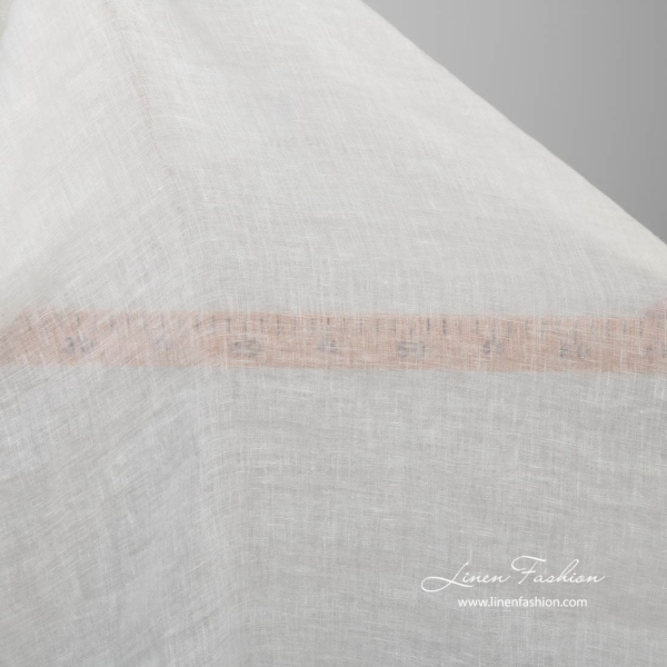 Washed transparent white linen fabric 3