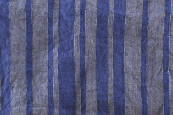 Violet striped washed pure linen fabric 1