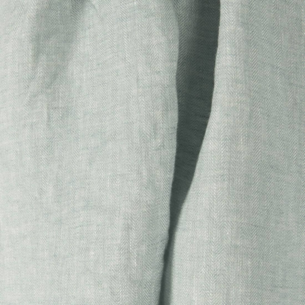 Light green linen fabric, washed 1
