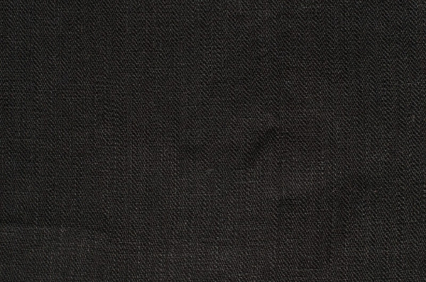 Black linen fabric in a herringbone pattern 1