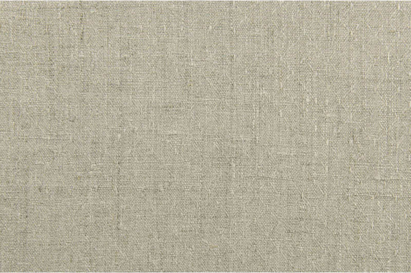 Grey patterned pure linen fabric 1