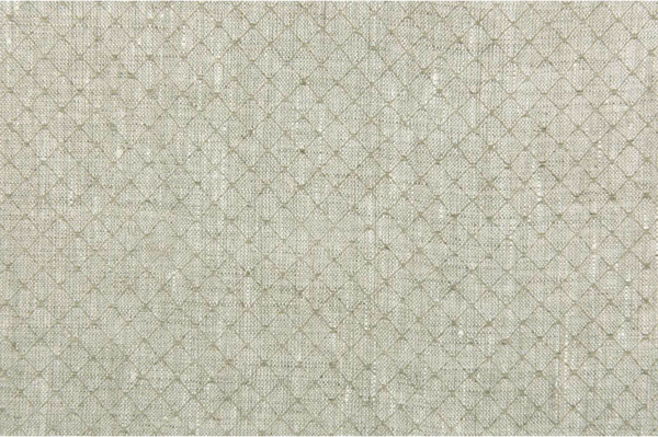 Patterned linen fabric in greenish grey 1