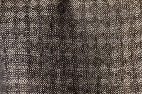 Diamond patterned linen fabric in black and grey 2