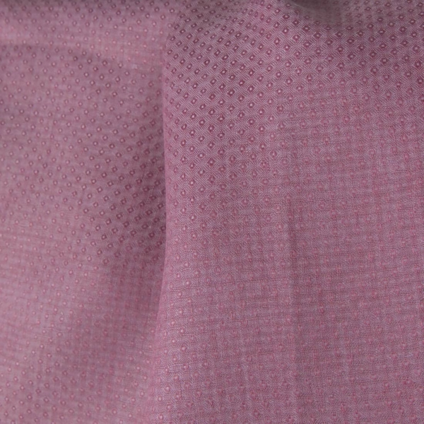 Linen lilac patterned fabric 1